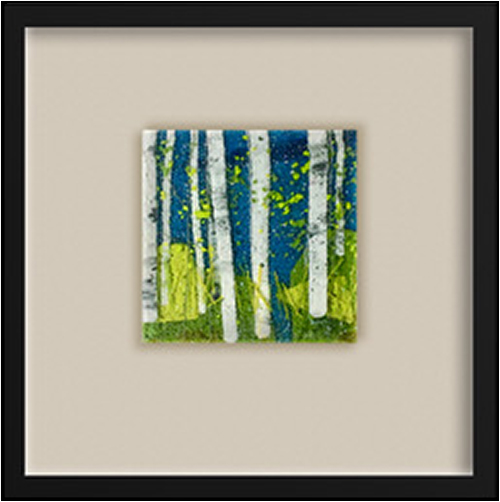Along the Water's Edge is a fused glass artwork; click to return to thumbnail images.