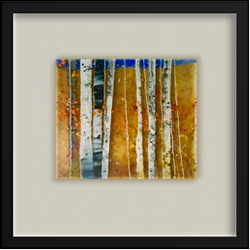 Autumn Days Again is a fused glass artwork; click to return to thumbnail images.