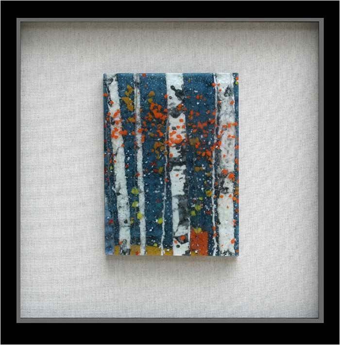 Enchanted Autumn Day is a fused glass artwork; click to return to thumbnail images.