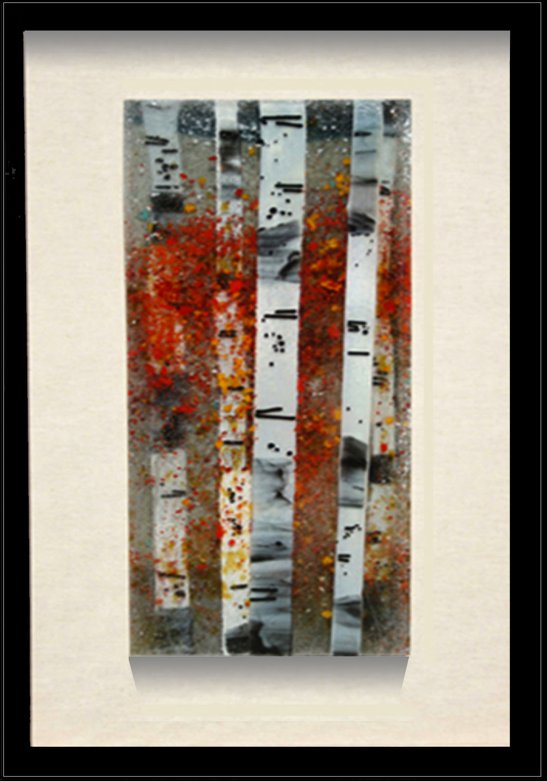 Fall Color is a fused glass artwork. Click to return to thumbnail images.