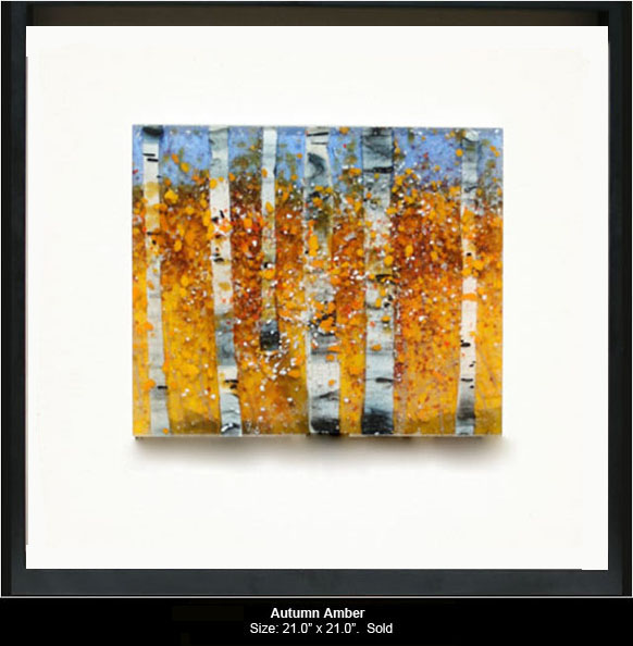 Autumn Amber is a fused glass artwork.