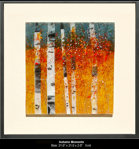 Autumn Moments is a fused glass artwork.
