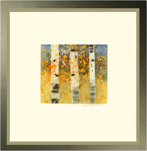 Enter Fall is a fused glass artwork.