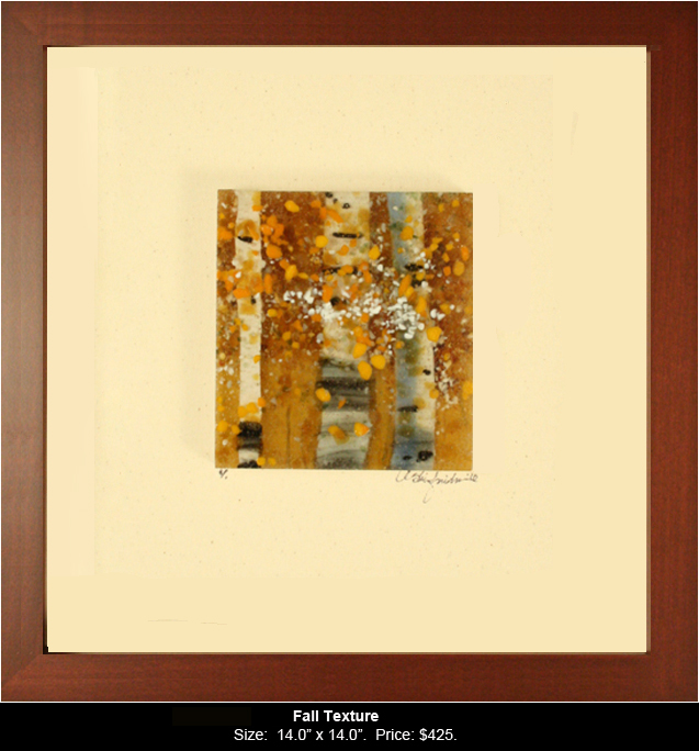 Fall Texture is a fused glass artwork; click to return to thumbnail images.