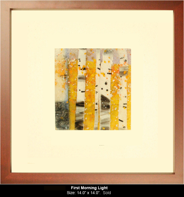 First Morning Light is a fused glass artwork.
