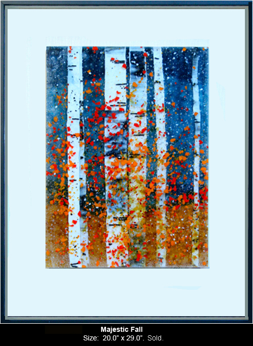 Majestic Fall is a fused glass artwork.