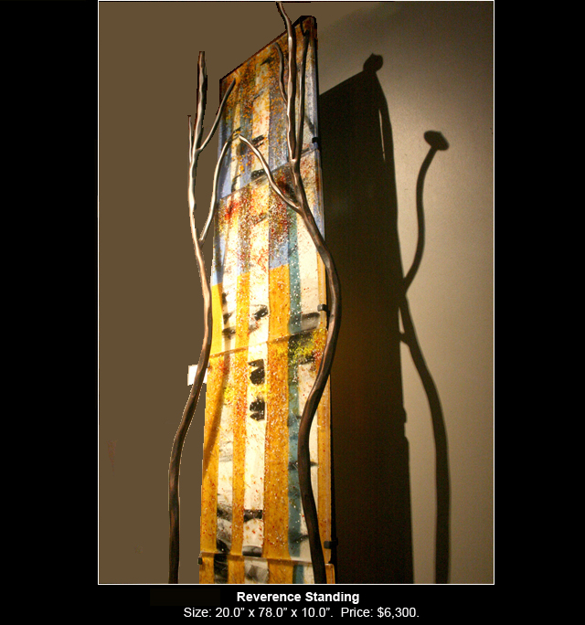 Reverence Standing is a fused glass artwork.