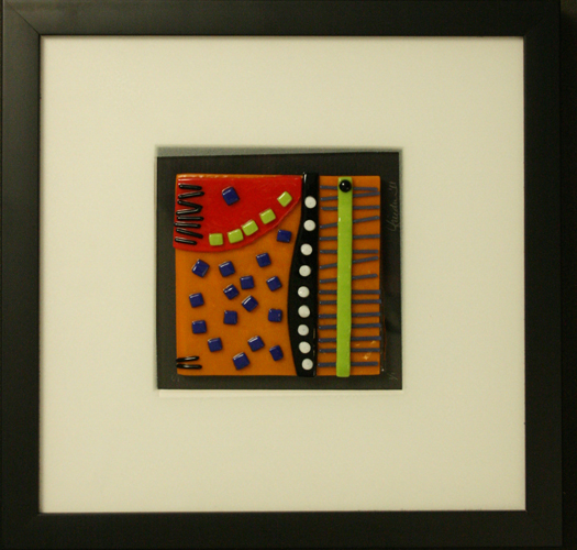 Abstract Study II is an abstract fused glass artwork; click for enlargement and details.