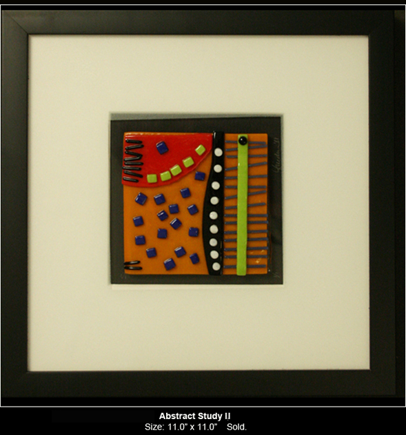 Abstract Study II is an abstract fused glass artwork.
