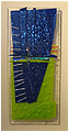 Blue is an abstract fused glass artwork; click for enlargement and details.