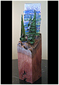 Coastal Waters is an abstract fused glass artwork; click for enlargement and details.
