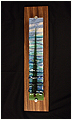 Lone Coastal is an abstract fused glass artwork; click for enlargement and details.