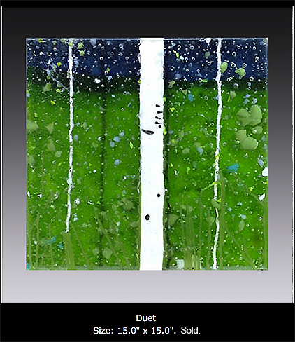 Duet is a fused glass artwork.