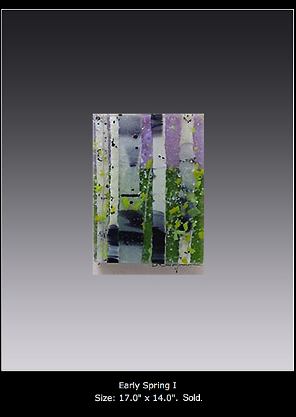 Early Spring I is a fused glass artwork.