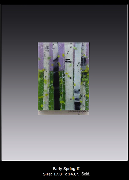 Early Spring II is a fused glass artwork.
