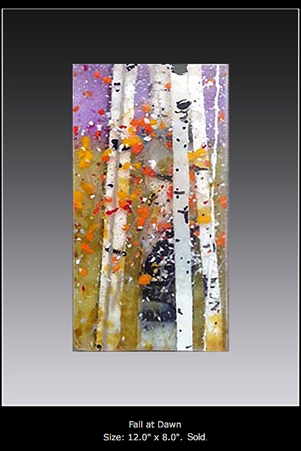 Fall at Dawn is a fused glass artwork.
