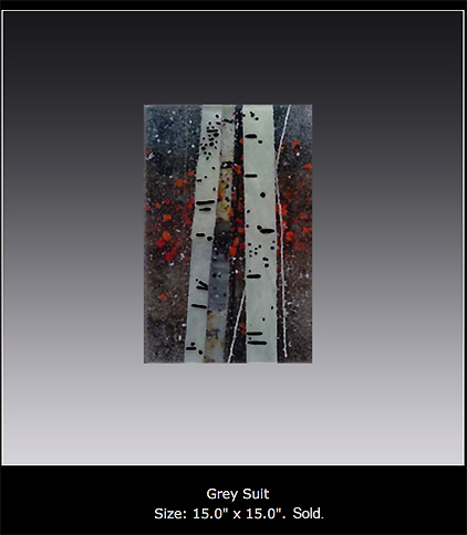 Grey Suit is a fused glass artwork.