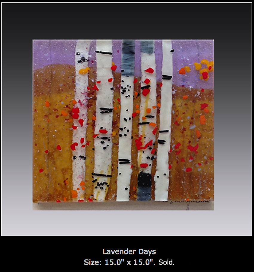 Lavender Days is a fused glass artwork.