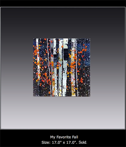 My Favorite Fall is a fused glass artwork.