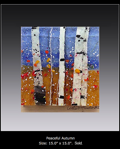 Peaceful Autumn is a fused glass artwork.