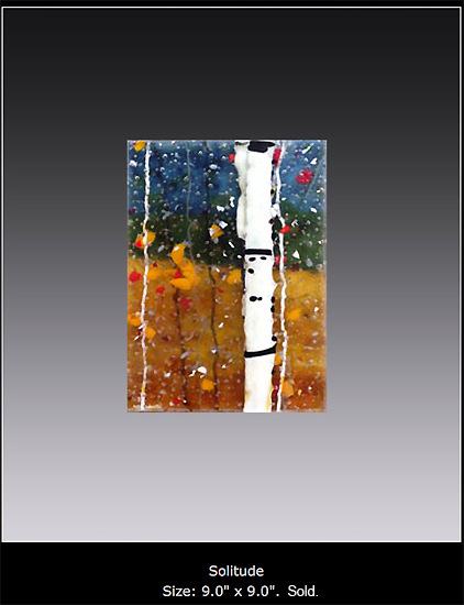 Solitude is a fused glass artwork.