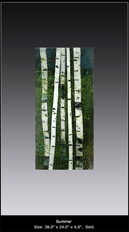 Summer II is a fused glass work; click to return to thumbnail images.