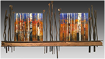 Beyond the Horizon is a fused glass artwork; click for enlargement and details.