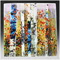 Fall is a fused glass artwork; click for enlargement and details.