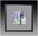 Lavender Essence  is a fused glass artwork; click for enlargement and details.