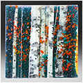 Russet Days is a fused glass artwork; click for enlargement and details.