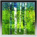 Spring is a fused glass artwork; click for enlargement and details.