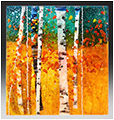 Summer is a fused glass artwork; click for enlargement and details.
