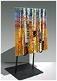 Sunset is a fused glass artwork; click for enlargement and details.