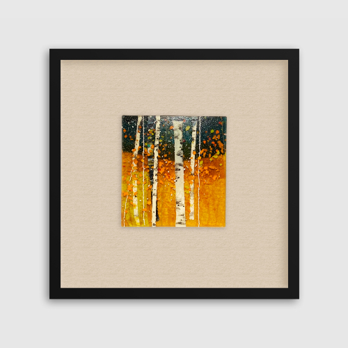 Magnificent Autumn is a fused glass artwork; click to return to thumbnail images.