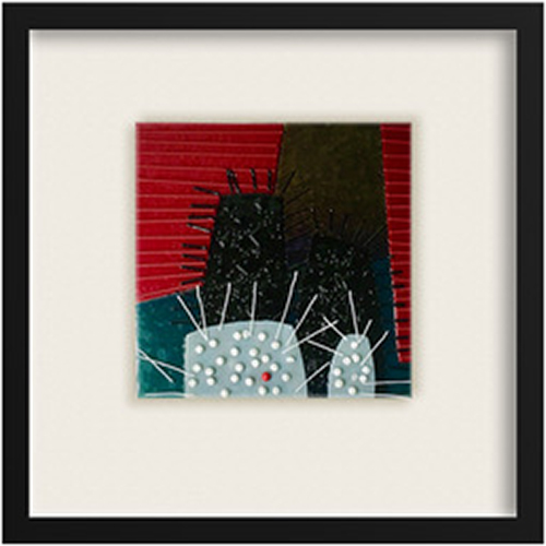 Sea Urchins I is a fused glass artwork; click to return to thumbnail images.