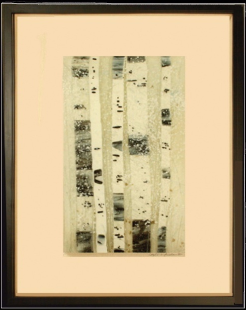 The Silence of Snow is a fused glass artwork; click to return to thumbnail images.