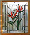 Birds is a stained glass artwork; click for enlargement and details.