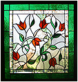 Debbie is a stained glass artwork; click for enlargement and details.
