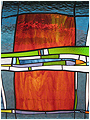 Patchwork is a stained glass artwork; click for enlargement and details.