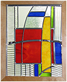 Patrick is a stained glass artwork; click for enlargement and details.