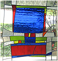 Steve is a stained glass artwork; click for enlargement and details.